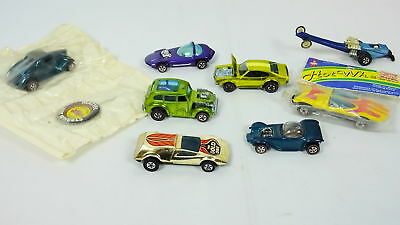 Lot 8 Hot Wheels Redlines Cars & Badge '36 Ford Coupe Classic Vintage Buzz-Off