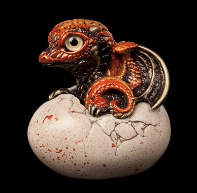 "Windstone Editions ""twilight Citrine"" Hatching Dragon V2 Test Paint #1"