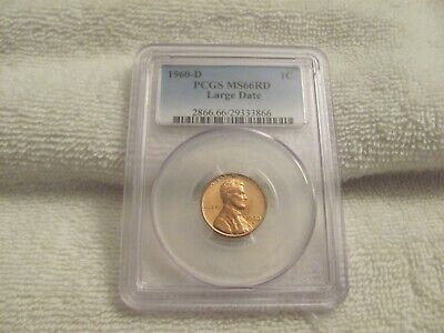 1960-D 1C PCGS MS66RD Lincoln Large Date Memorial Cent