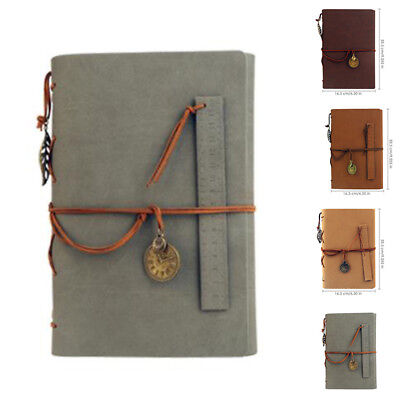 Lovely Leather DIY Photo Album Self Adhesive Vintage Scrapbook Retro Memory Book