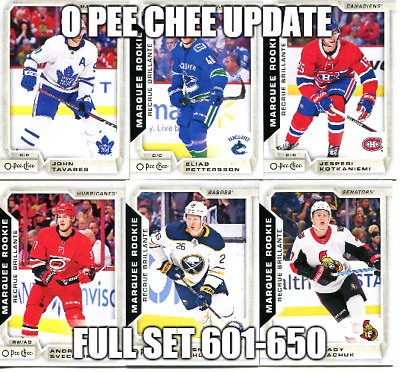 2018/19 Upper Deck Series 2 O Pee Chee Update Full Set 601-650 Pettersson +++ #1