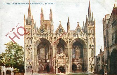 Picture Postcard:-Peterborough Cathedral, West Front