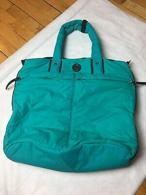 4aa560273e9 Lululemon Fast In Flight Quilted Bag Puffer Shoulder Tote Teal Green 💖