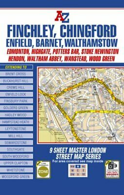 London Master Map - North by Geographers A-Z Map Company Sheet map Book The