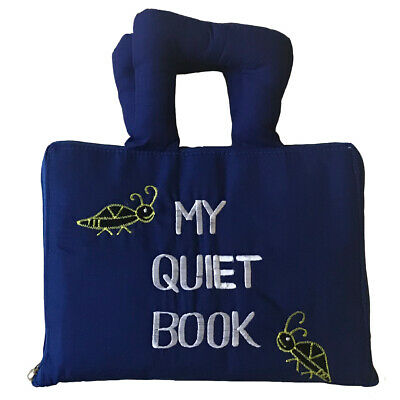 My Quiet Book Fabric Activity Learning Book for Babies & Kids - BACK IN STOCK