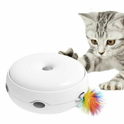 Electric Pet Cat Toy Smart Teaser Interactive Kitten Rotating Designed Funny Toy