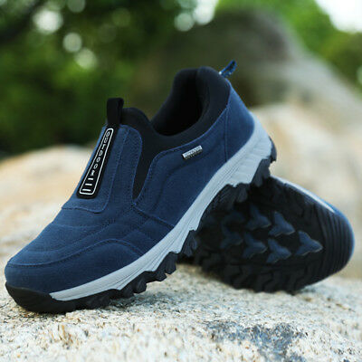 Men's Casual Shoes Slip On Outdoor Sneakers Breathable Hiking Climbing Shoes