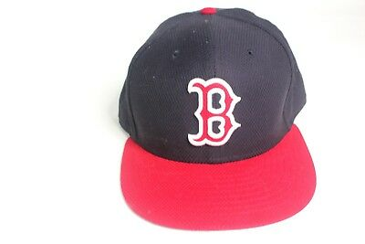 297cb8f21d0 NEW MLB BASEBALL Authentic New Era 59Fifty BOSTON RED SOX FITTED HAT ...