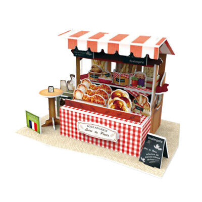 DIY Wooden Doll House Kits - European Architecture House - Miniature Booth