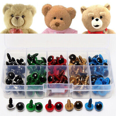 80x 8 Mixed Color Plastic Safety Eyes Washers for Animal Toy Teddy Bear Doll vbv