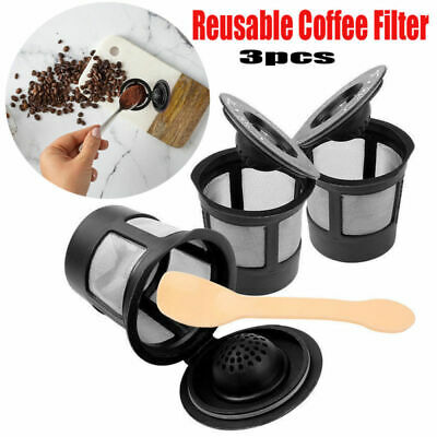 3PCS Reusable Refillable Cup Coffee Filter Pod for Keurig Coffee Maker
