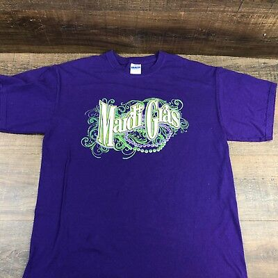 7494b7058 Mardi Gras Men's T-Shirt 378-9 Fleur de Lis Beads Graphic Short Sleeve