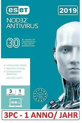 INSTANT Eset NOD 32 Antivirus 2019-  3 Year 1 Pc  Activation Code License Key