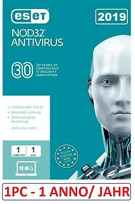 INSTANT Eset NOD 32 Antivirus 2019-  1 Year 1 Pc  Activation Code License Key