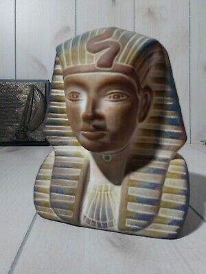 "Decorative Resin Egyptian Pharaoh Tutankhamen Bust 9"" x 7"" collectable"