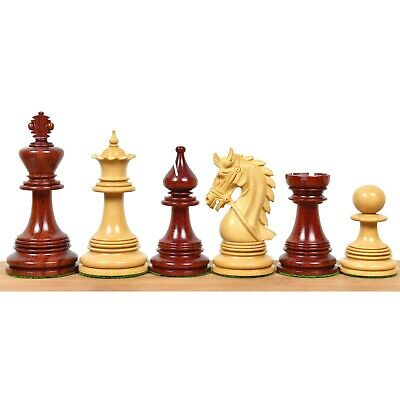 """4.3"""" Hadrian Luxury Staunton Chess Pieces Only Set -Triple Weighted Budrose Wood"""