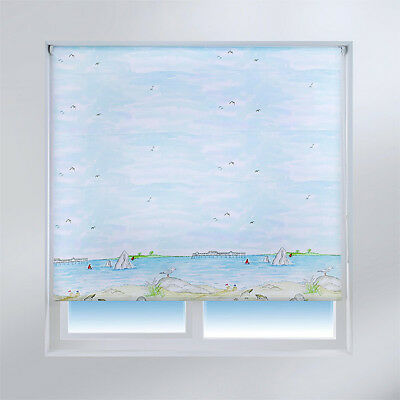 Universal Sea View Patterned Daylight Roller Blind, Multi
