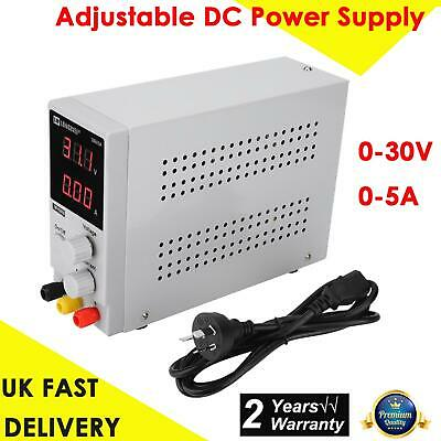 0-30V 0-5A Adjustable Digital Display DC Power Supply Switching Power Source UK