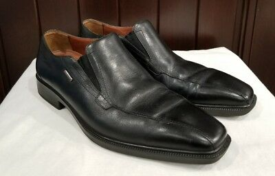 GEOX Respira Men s Loafers Black EUR 44 Leather Slip-On Casual Dress 0fcfcf474a8