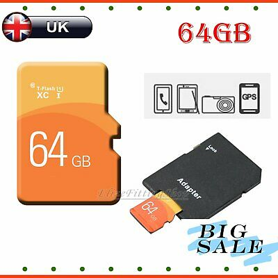 64GB TF Flash Storage Memory Card SD SDHC Card + Free Adapter  For Phone