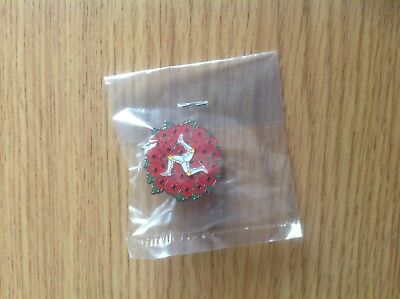 Collectors Isle Of Man Poppy Pin Badge (2018)