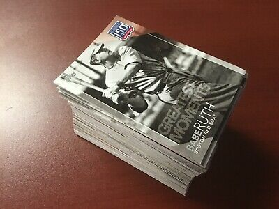 2019 Topps Series 1 - 150 YR GREATEST MOMENTS/PLAYERS/SEASONS COMPLETE SET 1-150