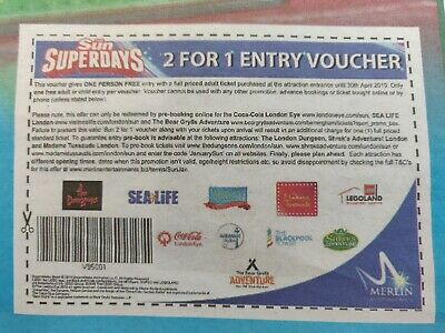 The sun Superdays 2 for 1 entry