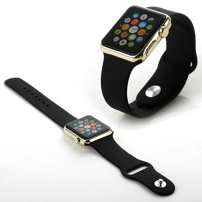 1:1 Apple Watch Display Modell 42mm Dummy-Modell schwarz mit gold Uhrengehäuse