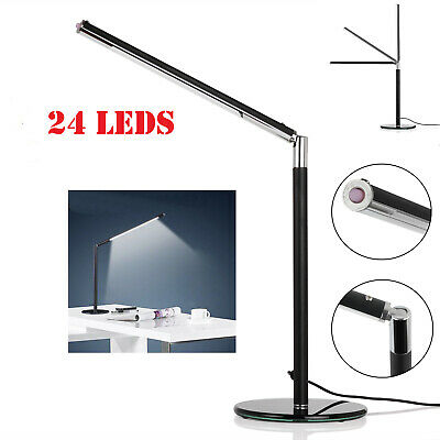 TOP LED Desk Table Lamp Bedside 360°Rotatable Foldable Eye Care Reading Light