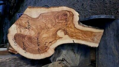Madera de Olivo slabs BURR live edgeCO2-  145 euros, transport incluido UK