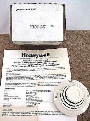 Honeywell TC808A1027 Fire Alarm Heat Detector Notification System Sensor