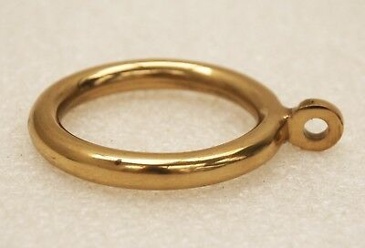 12 quality solid brass curtain rings for 44mm pole NEW in original packaging