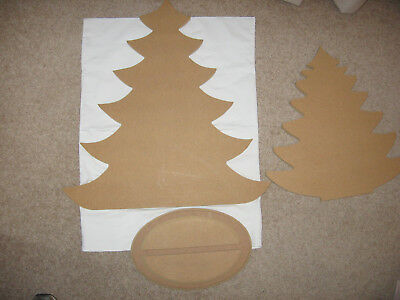 Two Christmas Trees And A Shared Base- Mdf-New
