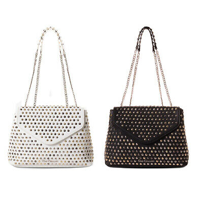 GIO CELLINI borsa donna ecopelle martellata con borchie BS012 CATENE ALL  STUDS 12998e89e8c
