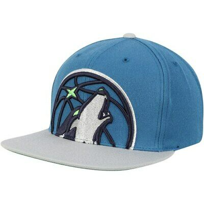 Minnesota Timberwolves Mitchell   Ness Cropped XL Logo Adjustable Snapback  Hat - 8c163ca48efb