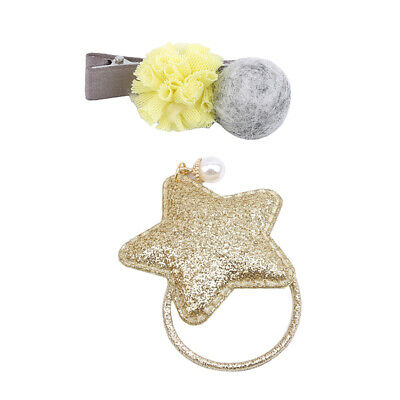 3Pcs Children Girls Sweet Style Hairpin Headband Hair Accessories Gift B