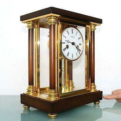 SCHMID DU CHATEAU Mantel Clock TOP Vintage RARE Translucent Chime GILDED Germany