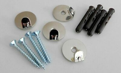 4 X Heavy Duty Screw In Picture Hooks 23kgs Rated with Screws & Plugs Freepost