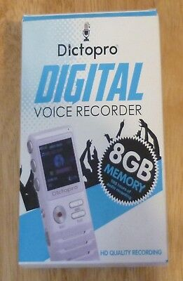 1x Dictopro - Digital Voice Activated Recorder, HD Recording, 8G.