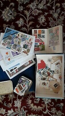 Stamp collection from 1970s. Album, stock book and loose. Some 1st day covers