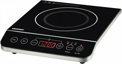 UNOLD 58105  hob Tabletop Ceramic Black,Stainless steel Heating Zone Single