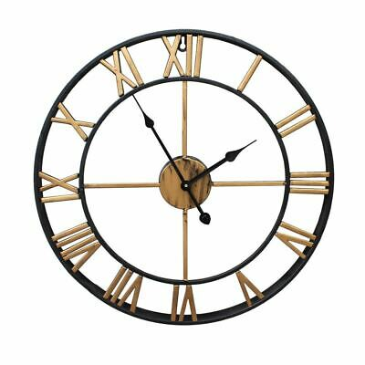 Oversized Retro Metal Wrought Iron Wall Clock 40 or 50cm Models