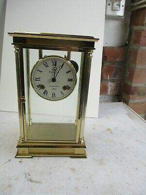 Brass clock by Sewells of Liverpool -used