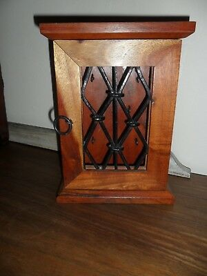 Bespoke Good Quality Hand Made Wood Key Wall Cabinet. Good condition.