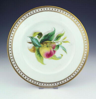 Antique English Porcelain - Hand Painted Peach Decorated Plate - Lovely!