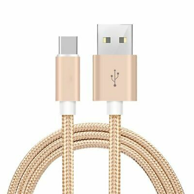 Heavy duty Braided Fast Charge USB C Type C Data Phone Charger Cable Lead Gold
