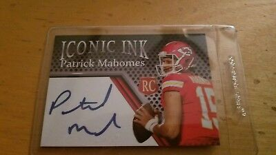 Patrick Mahomes Iconic Ink Rookie Card