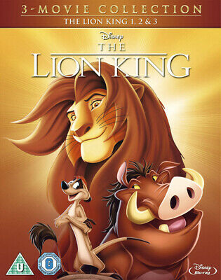 The Lion King Trilogy DVD (2014) Roger Allers cert U 3 discs ***NEW***