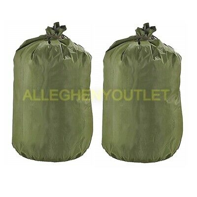 Lot of 2 - US Military Army Waterproof Wet Weather Laundry Clothing Bag Sack NEW