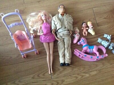 Barbie Family Bundle With Pushchair
